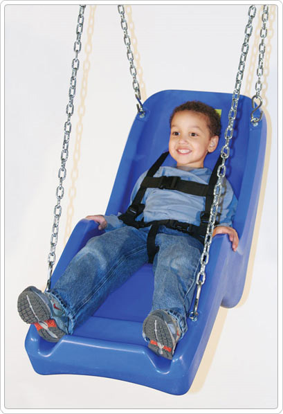 Sportsplay molded swing seat 14 w x 11 d x 45 l for Indoor swing seat