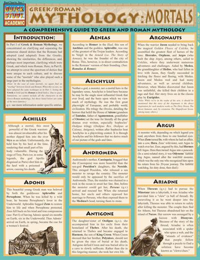 Mythology Short Answer Test - Answer Key | BookRags.com