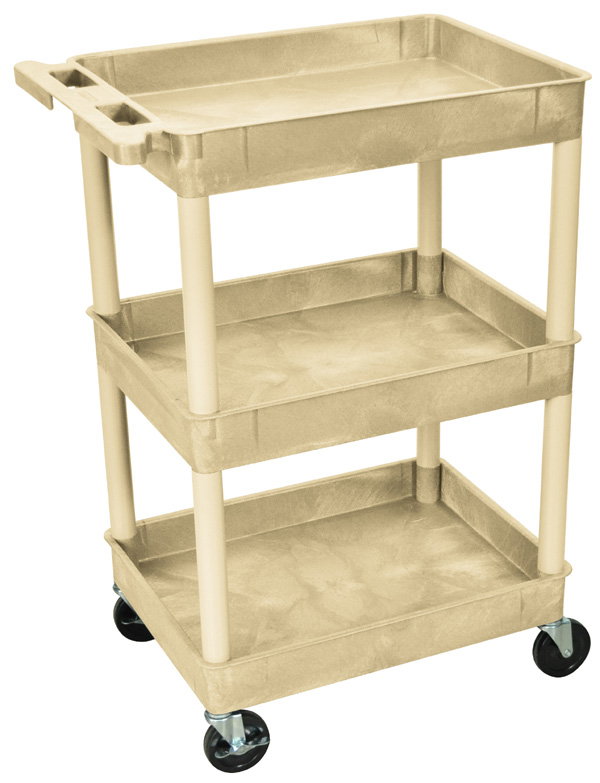 "Luxor Tub Utility Cart: Putty, 24"" W x 18\"" D x 40.5\"" H"