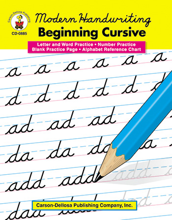 Cursive handwriting books with guide arrows