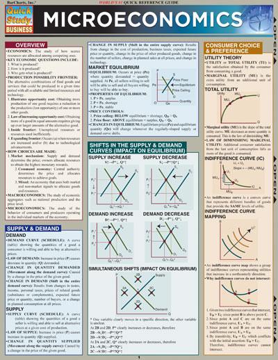 BarCharts Microeconomics Quick Study Guide :: Economics :: Business ...