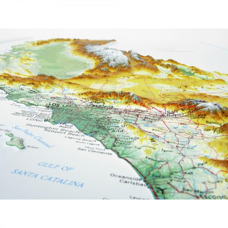 Hubbard Scientific Raised Relief Map California State