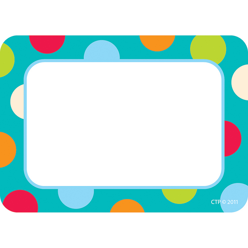 Creative Teaching Press Dots On Turquoise Name Tags