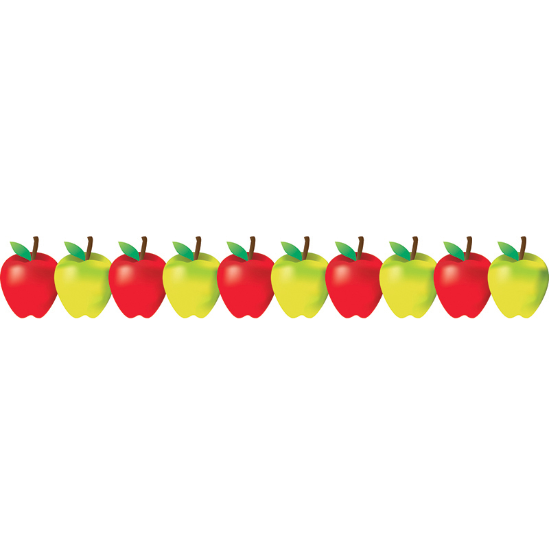 Spanish Classroom Decorations ~ Red and green apples border classroom borders online