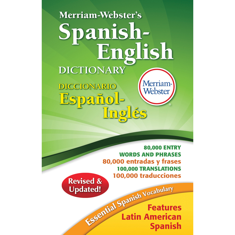 38 Mw Merriam Webster Spanish English Dictionary Hardcover