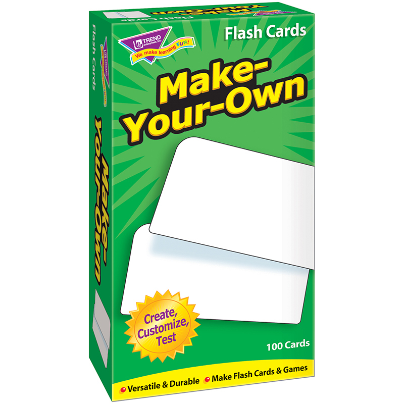 Flash Cards Make Your Own 100 Box Flash Cards Games