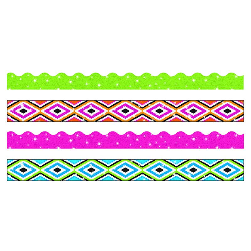 Aztec Classroom Decor ~ Aztec sparkle border variety pack classroom borders