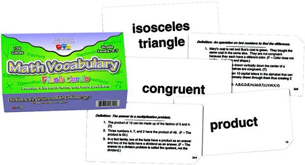 math vocabulary flash cards flash cards online teacher supply source. Black Bedroom Furniture Sets. Home Design Ideas