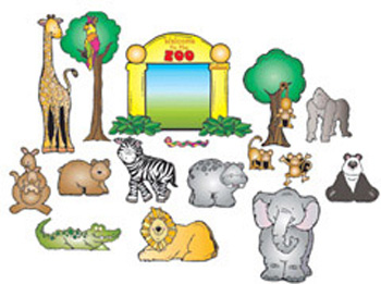 Zoo Friend Bulletin Board Set by DJ Inkers