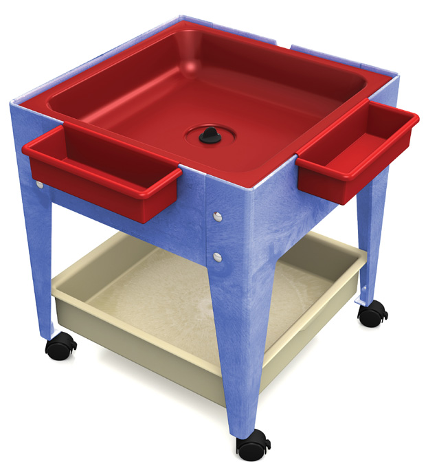 Childbrite Mites Sensory Table 24 H Youth Mite With Red Tub Mega Tray Tables Furniture