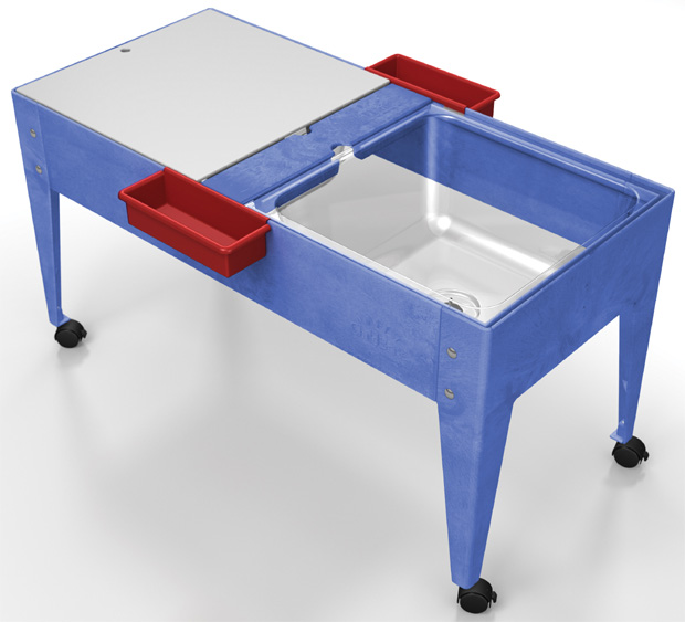 Childbrite Youth Double Mite 24 H With Clear Tub Tables Furniture Classroom Office