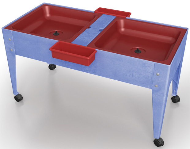 Childbrite Mites Sensory Table 24 H Youth Double Mite With Red Tub Tables Furniture