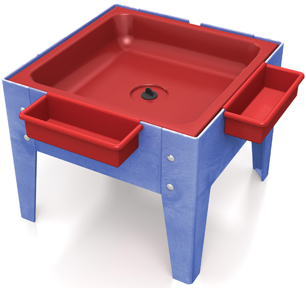 Childbrite Mites Sensory Table 18 H Toddler Mite With Red Tub Tables Furniture