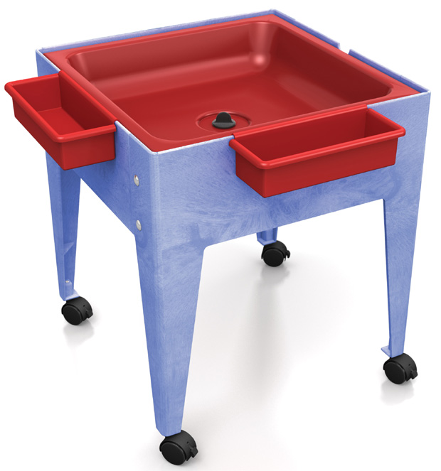 Childbrite Mites Sensory Table 24 H Youth Mite With Red Tub Tables Furniture