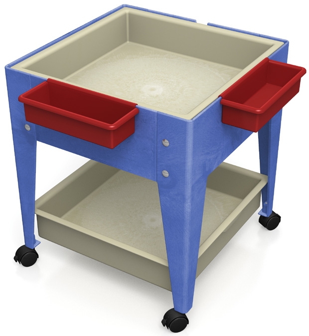 Child Brite Mites Sensory Table 24 H Youth Mobile Mite With 2 Mega Tray 4 Casters