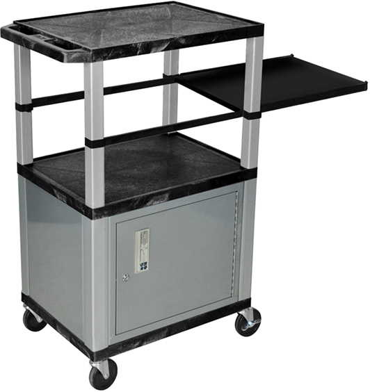 Luxor Kitchen Cabinets: Luxor Side Pullout Shelf Carts Nickel Legs With Cabinet