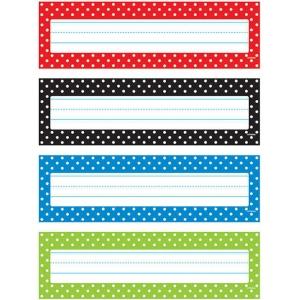 Trend Enterprises Inc Polka Dots Desk Toppers Name Plates