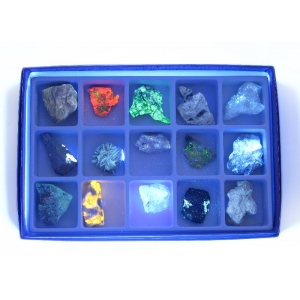 Scott Resources & Hubbard Scientific Fluorescent Minerals Short Wave Collection