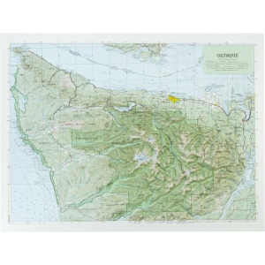 Hubbard Scientific Raised Relief Map: Olympic National Park