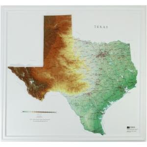 Hubbard Scientific Raised Relief Map: Texas State