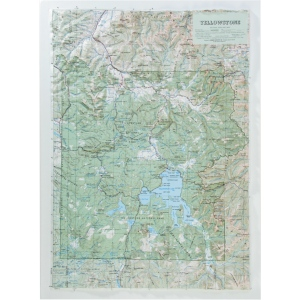 Hubbard Scientific Raised Relief Map: Yellowstone National Park