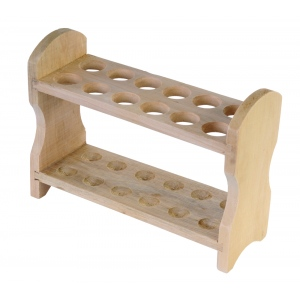 American Education Test Tube Rack: Wooden, 12 Tube, 2 Rows