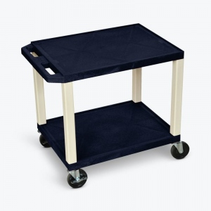 "Luxor 26""H AV Cart - Two Shelves - Putty Legs"