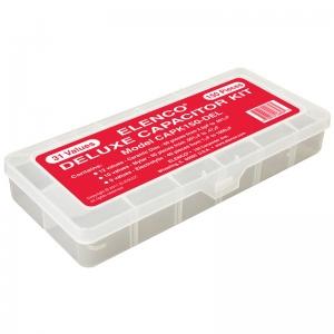 Elenco Deluxe 150 piece Capacitor component kit in plastic case