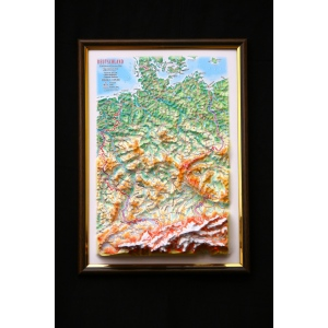 Germany Map: A4, Decorative 3D Map With Panorama Effect, German Language