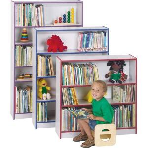 "Jonti-Craft Rainbow Accents Bookcase: 2 Shelves, 36"" High, Green, Assembled"