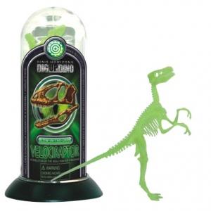 Tedco Science Toys Glow-In-the-Dark Test-Tube Dino Skeletons Velociraptor