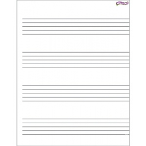 Music Staff Paper Wipe Off Chart 17x22
