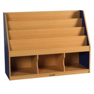 ECR4Kids Colorful Essentials: Storage Book Display, Blue, 3 Comp