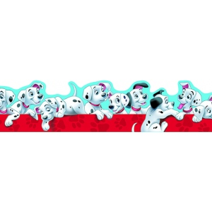 101 Dalmatians Puppies Extra Wide Die Cut Deco Trim