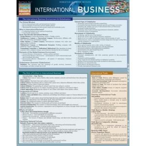 study guide to international commerce Mba study guide for preparation for commerce and business administration (ccba) the purpose of this guide is to ba 590 - international business 1.