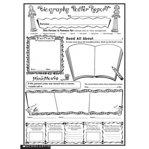 "Instant Personal Poster Set: Biography Report, 17"" x 22"""