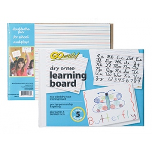 Gowrite Dry Erase Learning Board: Pack of 5