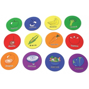 American Education Yellowtails Fruit Spot Markers: Set of 12