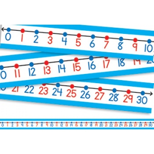 "Student Number Line: 0-30, 22"" x 1.5"", Pack of 30"