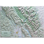 Hubbard  Scientific Raised Relief Map: Glacier National Park