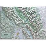 Hubbard  Scientific Raised Relief Map: Glacier National Park