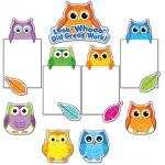 Carson-Dellosa Bulletin Board Set: Colorful Owls Good Work