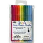 10 Piece Set Brush Tip Bright Colors