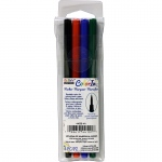 4 Piece Set Brush Tip Primary Colors