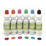 Paint Sponge Markers 6 Asst Colors