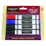 4ct Wht Board Marker 4 Assrt Colors