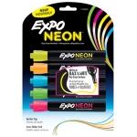 Expo Neon Bullet 5/pk Pnk Org Yel Grn Blu Carded