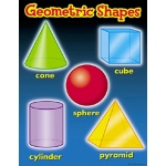 Geometric Shapes Chart: 17'' x 22'', Grade 1-4 by Trend Enterprises