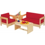 "Jonti-Craft Living Room Set: Red Easy Chair, 37 1/2"" W x 20"" D x 20"" H"