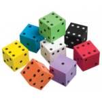 Didax Big Foam Dice: Set of 8, Grades K-4